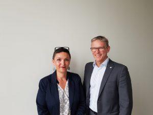 Ms. Catherine Hartmann (l) and Dr. Kari Aranko (r)